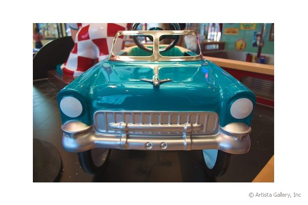 Daddy's Diner in Tempre, Finland restored kiddie car