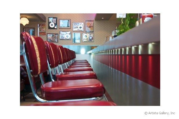 Daddy's Diner in Tempre, Finland stools at counter